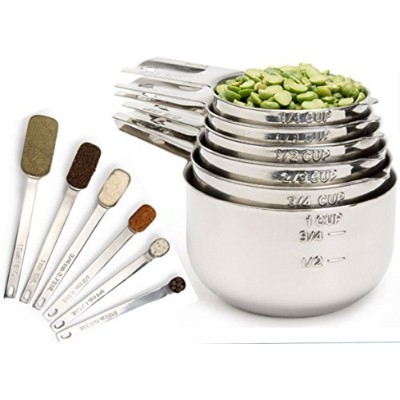 Simply Gourmet Measuring Cups and Spoons Designed to Last a Lifetime. Attractive and Durable 12...