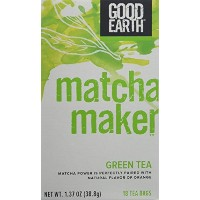 海外直送品Good Earth Teas Matcha Maker, Matcha Sencha and Orange 18 Tea bags (Pack of 3)
