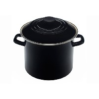 Le Creuset enamel-on-steel Covered Stockpot、6クォート、Flame 8 quarts ブラック N4100-2231
