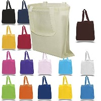 100% Cotton Canvas Reusable Grocery Bags by BagzDepot (24 Pack, Natural) by BagzDepot