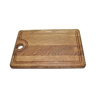 Mr Wooden Cook木製オークウッドカッティングボードand Serving Tray withジュースGroove、キッチンChopping Board、Platter肉用、ソーセージ...