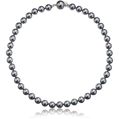 Majorica 10 mmグレーRound Pearl Strand Necklace , 17 ""