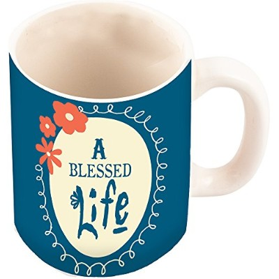 """CarpentreeメジャーA Blessed Life Mug , 3"""" L by 4"""" H by 1"""" W"""