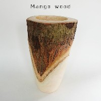 Mango Wood Tall 鉢カバー【stem/天然木】