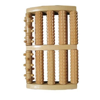 Large Dual Wooden Foot Roller Massager: Reflexology / Acupressure by My Pure Delivery