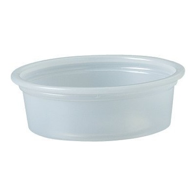Solo Plastic 15ml Clear Portion Container for Food, Beverages, Crafts (Pack of 125)