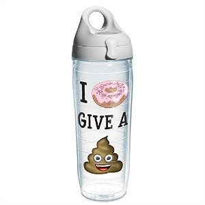 """Tervis """" I Donut Give a Poop """"絵文字ラップTumbler with Lid 24 oz (Water Bottle) クリア"""