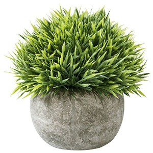 Leyaron MiniプラスチックFake Green Grass Small人工Potted Plants for office、ホーム装飾 One Size グリーン LST-037-1