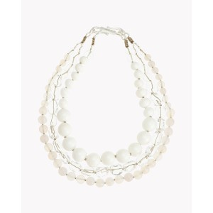 【Theory】Kong qi White Stone Necklace 一連ごとにストーンが異なる三連ネックレス。 その他 大人 セオリー