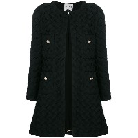 Edward Achour Paris woven coat - ブラック