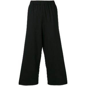 6397 wide leg cropped trousers - ブラック