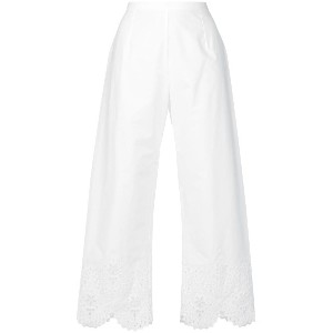 Ermanno Scervino open embroidery trousers - ホワイト