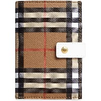 Burberry Vintage Check and Leather Folding Wallet - ヌード&ナチュラル