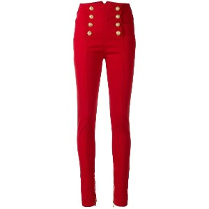 Balmain high-waisted skinny jeans - レッド
