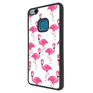 000947 - Cool Cute Fun Flamingo Doodle Collage Kawaii Pink Illustration Pink Birds Design For...