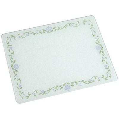 (1, 20 X 16) - 20 X 16 Corelle Country Cottage Glass Cutting Board