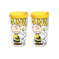 Tervis Peanuts Colossal Tumbler withブラック蓋、473ml、2 - Pack