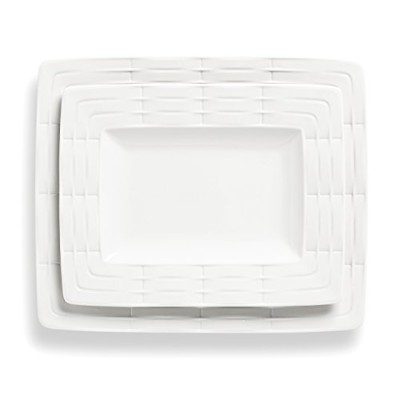 (Platter Set (set of 2)) - Lenox 2-Piece Entertain 365 Sculpture Platter Set, White