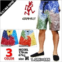 グラミチ G ショーツ GRAMICCI PSYCHEDELIC G SHORT COTTON KHAKI GREEN YELLOW RED BROWN BLUE 3色展開 ハーフパンツ ボトムス...