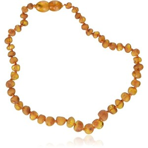 Momma Goose Baroque Teething Necklace, Unpolished Cognac, Small/11-11.5 by Momma Goose