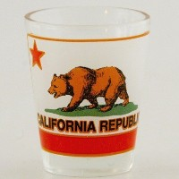 California Bear Republicショットガラス