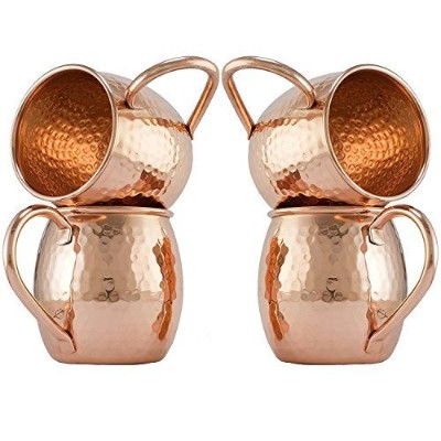Zap Impex Pure Copper Moscow MuleバレルHammered銅マグカップnon-coated、理想的なすべてChilled DrinkバーまたはホームBestギフトセットの...