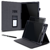 Surface Pro 4 Case, roocase Dual View Surface Pro 4 Synthetic Leather Folio Case Cover Stand for...