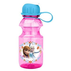 Zak! Designs Tritan Water Bottle with Flip-up Spout with Elsa & Anna from Frozen, Break-resistant...
