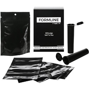 25Smell ProofバッグMade in USA by Formline供給–目立たない、ノーブランドの、熱紐付きの、丈夫、Smelly Odor Proof Baggiesロックで新鮮再...