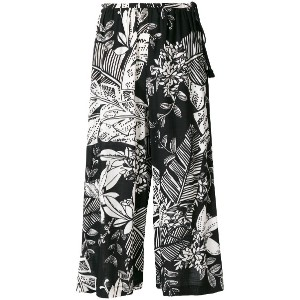 See By Chloé floral wide leg culottes - ブラック