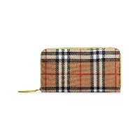 Burberry Vintage Check and Leather Ziparound Wallet - ヌード&ナチュラル