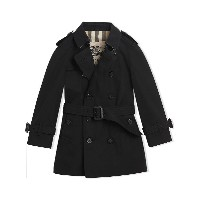 Burberry Kids The Wiltshire Trench Coat - ブラック