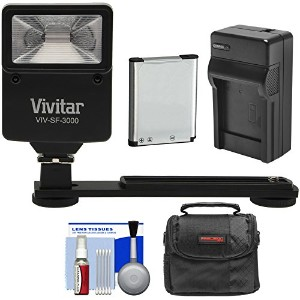 Essentialsバンドルfor Nikon Coolpix a300, s33, s6900, s7000, w100with EN - el19バッテリー+充電器+ケース+フラッシュ...