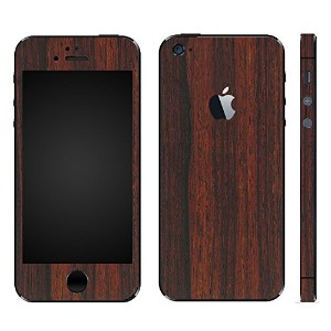 wraplus for iPhoneSE & iPhone5S/5 【ローズウッド】 スキンシール + 液晶保護フィルム