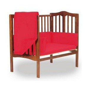 aBaby Solid Color Mini Crib Bedding, Red by Ababy