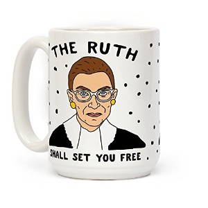 The Ruth Shall Set You Freeホワイト15オンスセラミックコーヒーマグby LookHUMAN