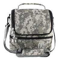 Nex Lunch Bag Fabric Double Decker Cooler Lunch Box Insulated Lunch Bag with Zip Closure(Camo) by...