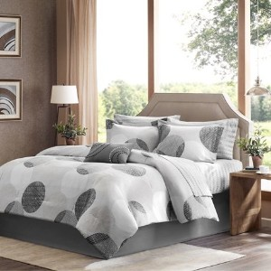 Madison Park Essentials Knowles Complete Bed and Sheet Set - Grey - Cal.King by Madison Park...