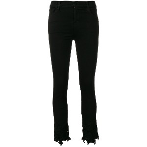 J Brand slim cropped trousers - ブラック