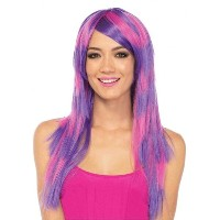 チェシャ猫 ウィッグ 大人女性用 Cheshire layered two tone wig O/S PINK/PURPLE