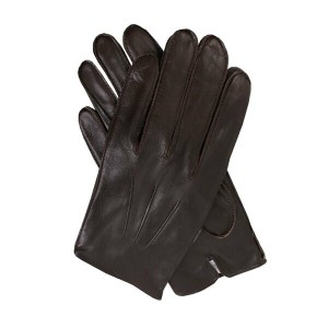 デンツ メンズ 手袋・グローブ【Leather Gloves With Fleece Lining】brown