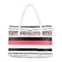 Versace Jeans striped tote bag - ホワイト