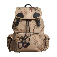 Burberry medium Rucksack printed backpack - ヌード&ナチュラル