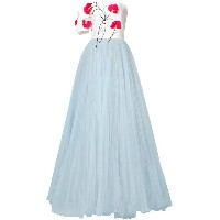 Carolina Herrera floral embroidered ballgown - ホワイト