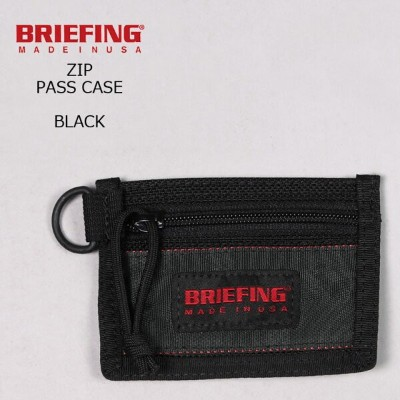 BRIEFING (ブリーフィング) ZIP PASS CASE - BLACK パスケース