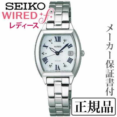 SEIKO ワイアード WIRED WIRED f 女性用 ソーラー アナログ 腕時計 正規品 1年保証書付 AGED075