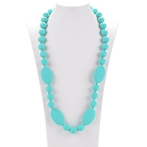 Consider It Maid Silicone Teething Necklace for Mom to Wear - FREE E-BOOK - BPA FREE and FDA...
