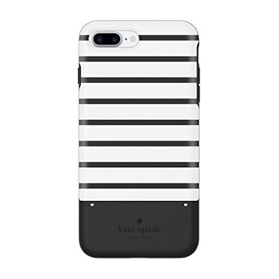 kate spade new york Credit Card Case for iPhone 7 Plus - Surprise Stripe Black / White [並行輸入品]