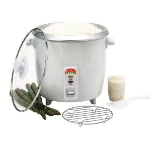 Benecasa bc-124166-cup ( Uncooked ) Rice Cooker with Glass Lid by Bene Casa