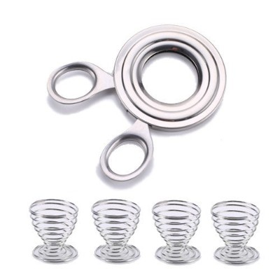 Stainless Steel Egg Topper free Egg Cups 4 (S3F)